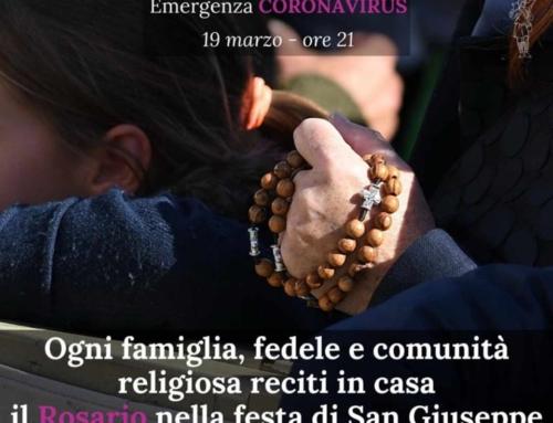 In preghiera per il Paese, tutti insieme il 19 Marzo